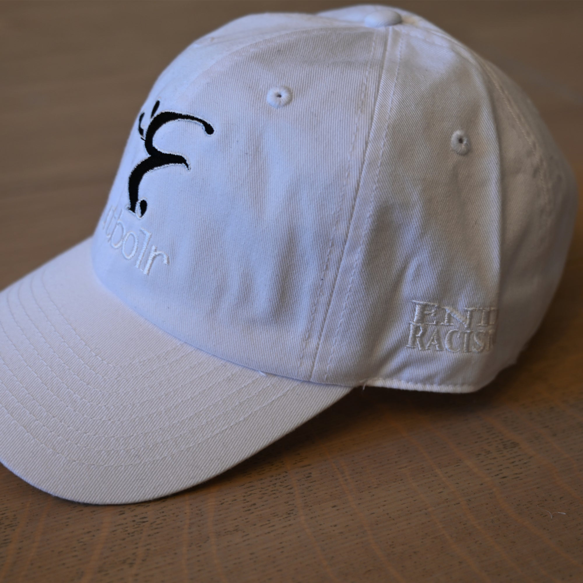 End Racism Futbolr White Dad Hat
