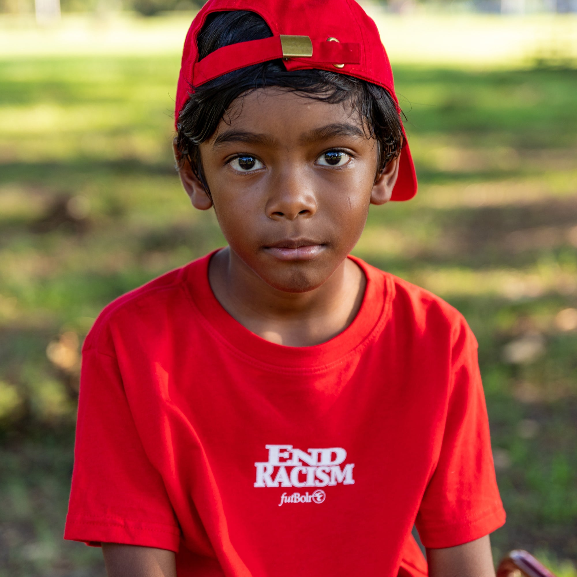 End Racism Futbolr Toddler Tee