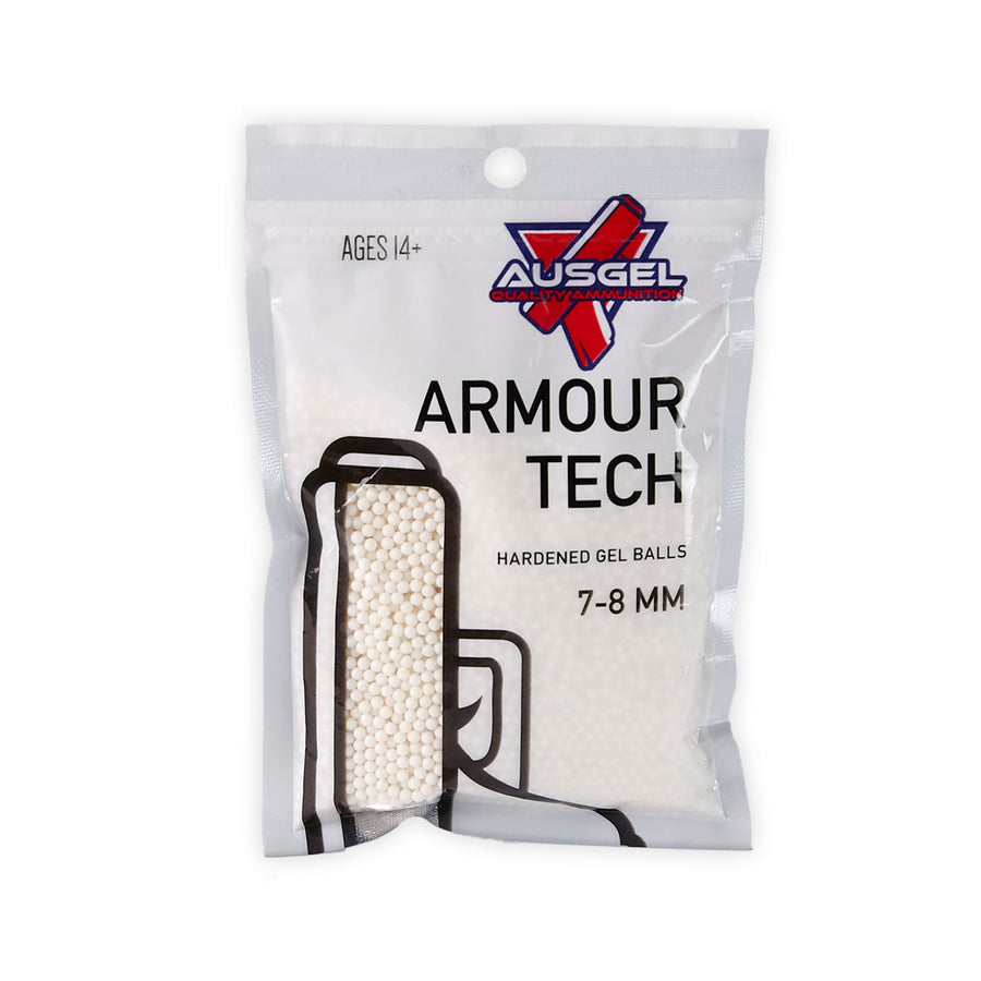 10,000 Armour Tech Hardened White Gel Balls Gel Blaster Ammo