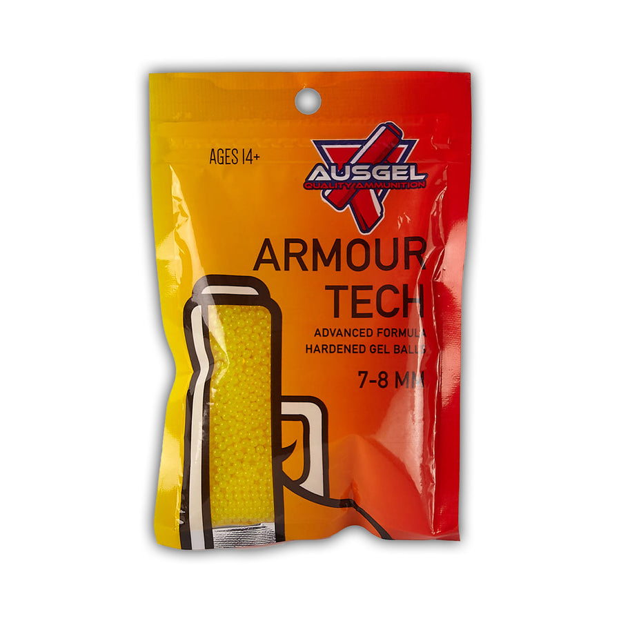 10,000 Armour Tech Hardened Yellow Gel Balls Gel Blaster Ammo