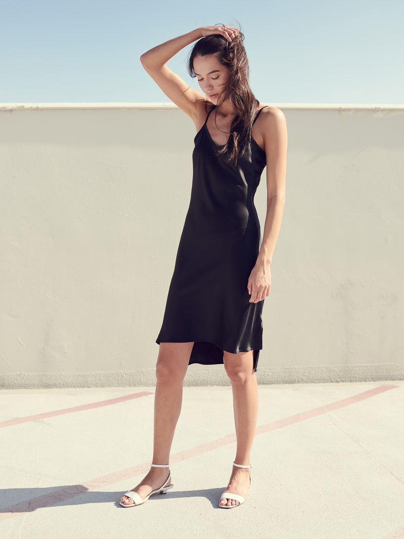 High Low Hem Slip Dress