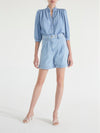 Alina Volume Sleeve Denim Shirt