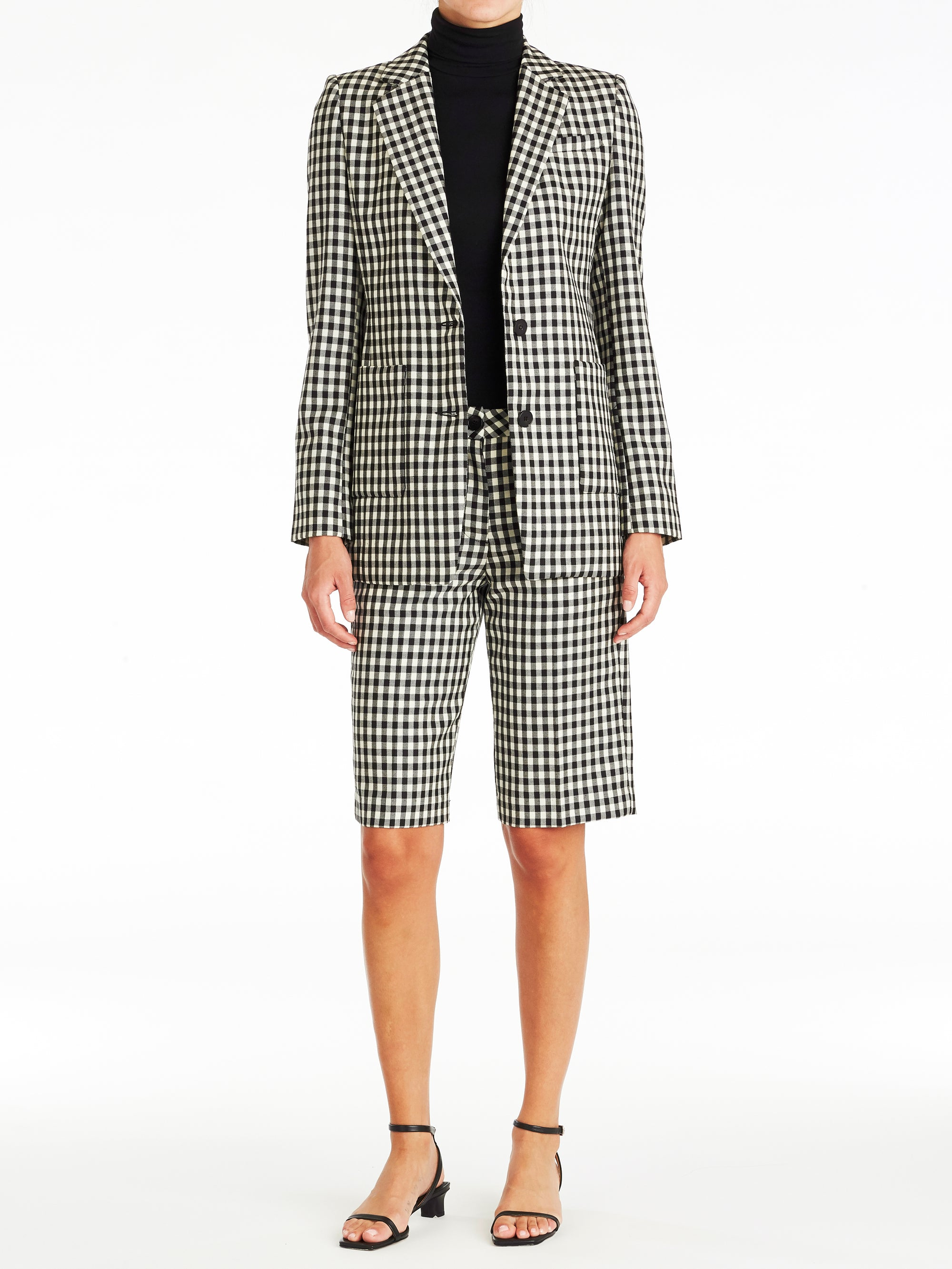 Anna Checker Single Blazer
