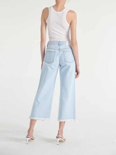 Julia Pleated Denim Culotte