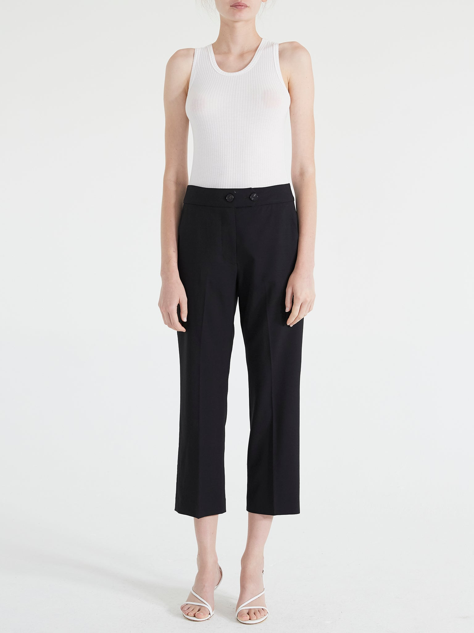 Travel Suiting Crop Trouser