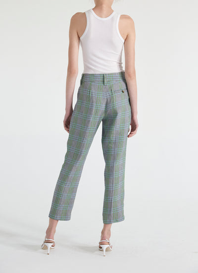 Christy Pleated Linen Trouser