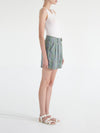 Carolyn Pleated Linen Shorts