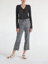 Linen Plaid Crop Trouser