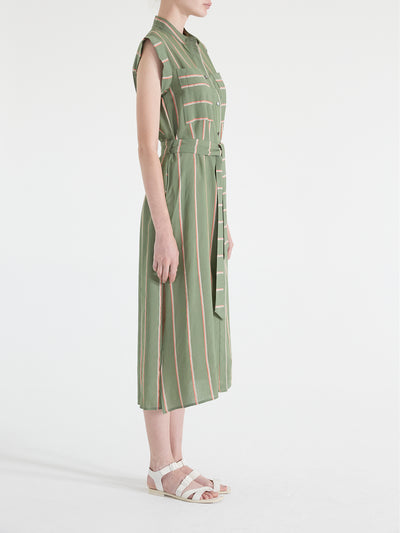 Carmen Stripe Button Down Maxi Dress
