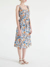 MICHELLE TIGER PRINTED LINEN DRESS
