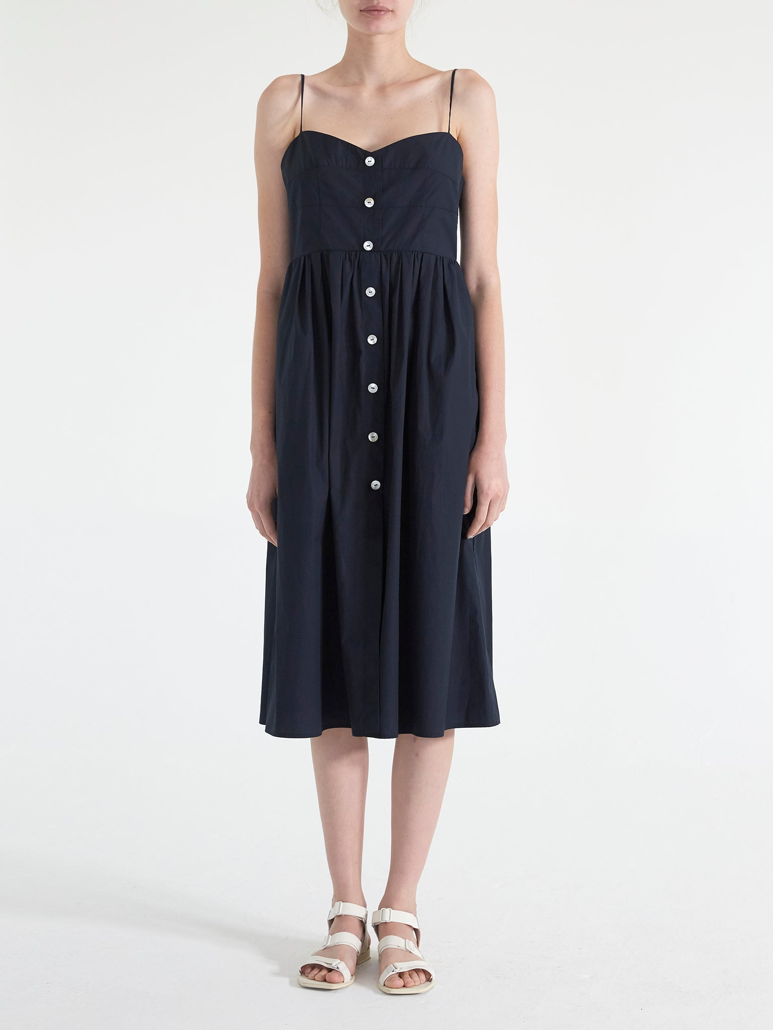 Nicole Poplin Midi Dress
