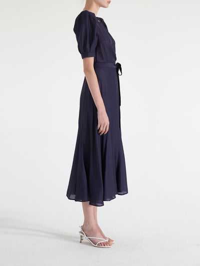 Rebecca Puff Sleeve Wrap Dress