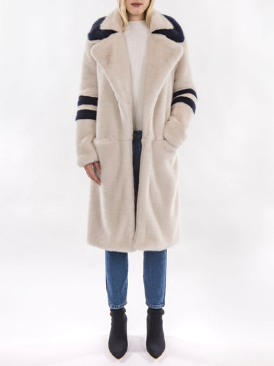 Long Italian Faux Fur Coat