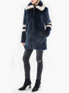 Zip Front Italian Faux Fur Coat