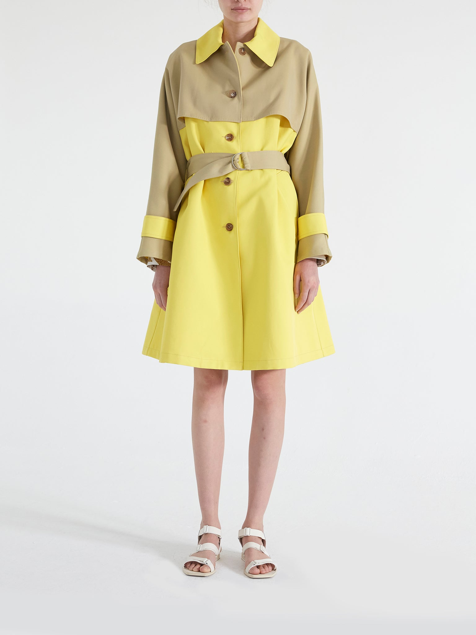 Roma Techno Cotton Trench Coat