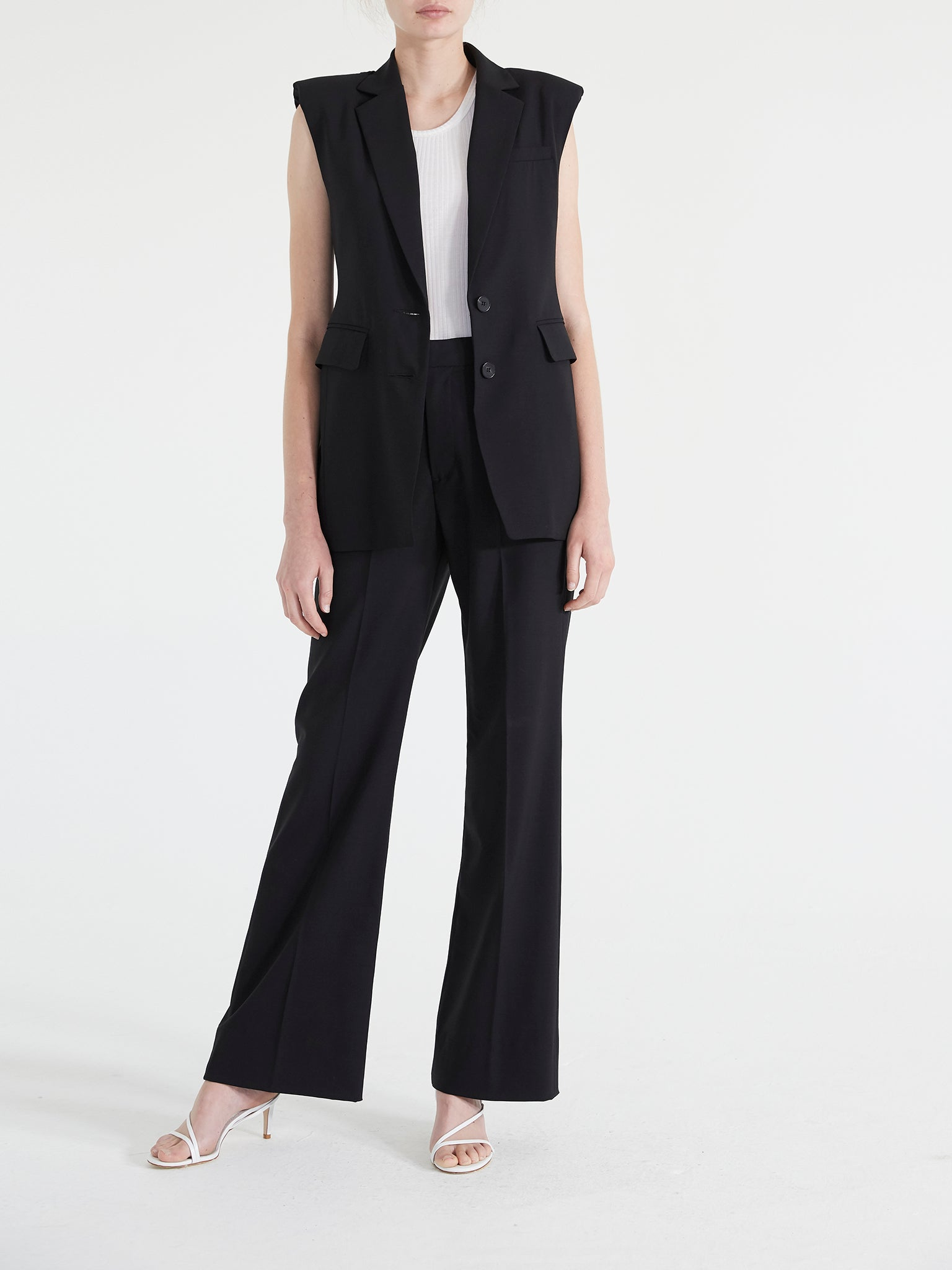Travel Suiting Wide Leg Trouser