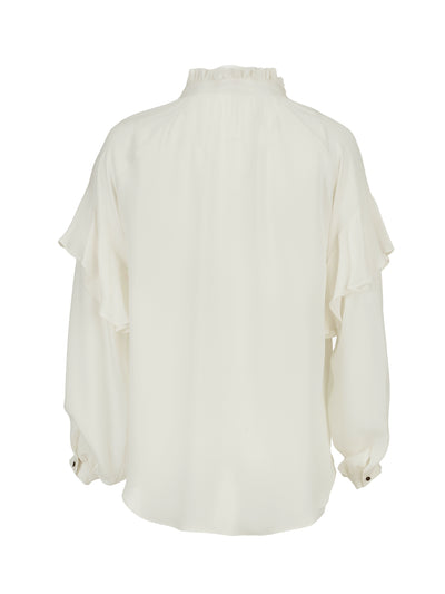 Julia Silk Georgette Ruffle Blouse