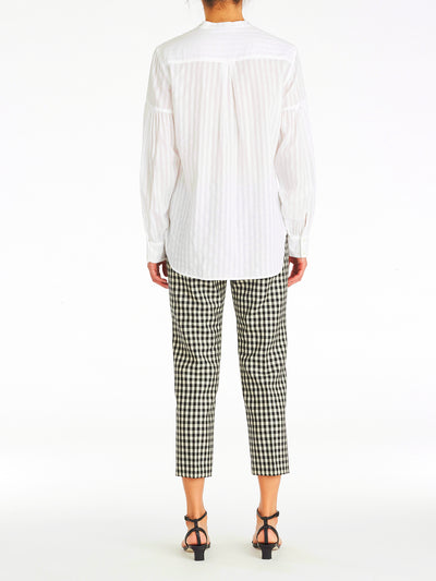 Cara Volume Sleeve Stripe Shirt