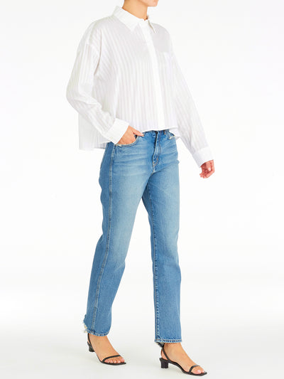 Alicia Oversized Crop Shirt