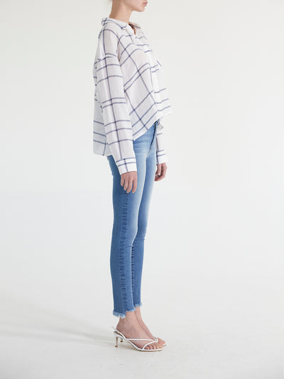 Alicia Oversized Plaid Crop Shirt