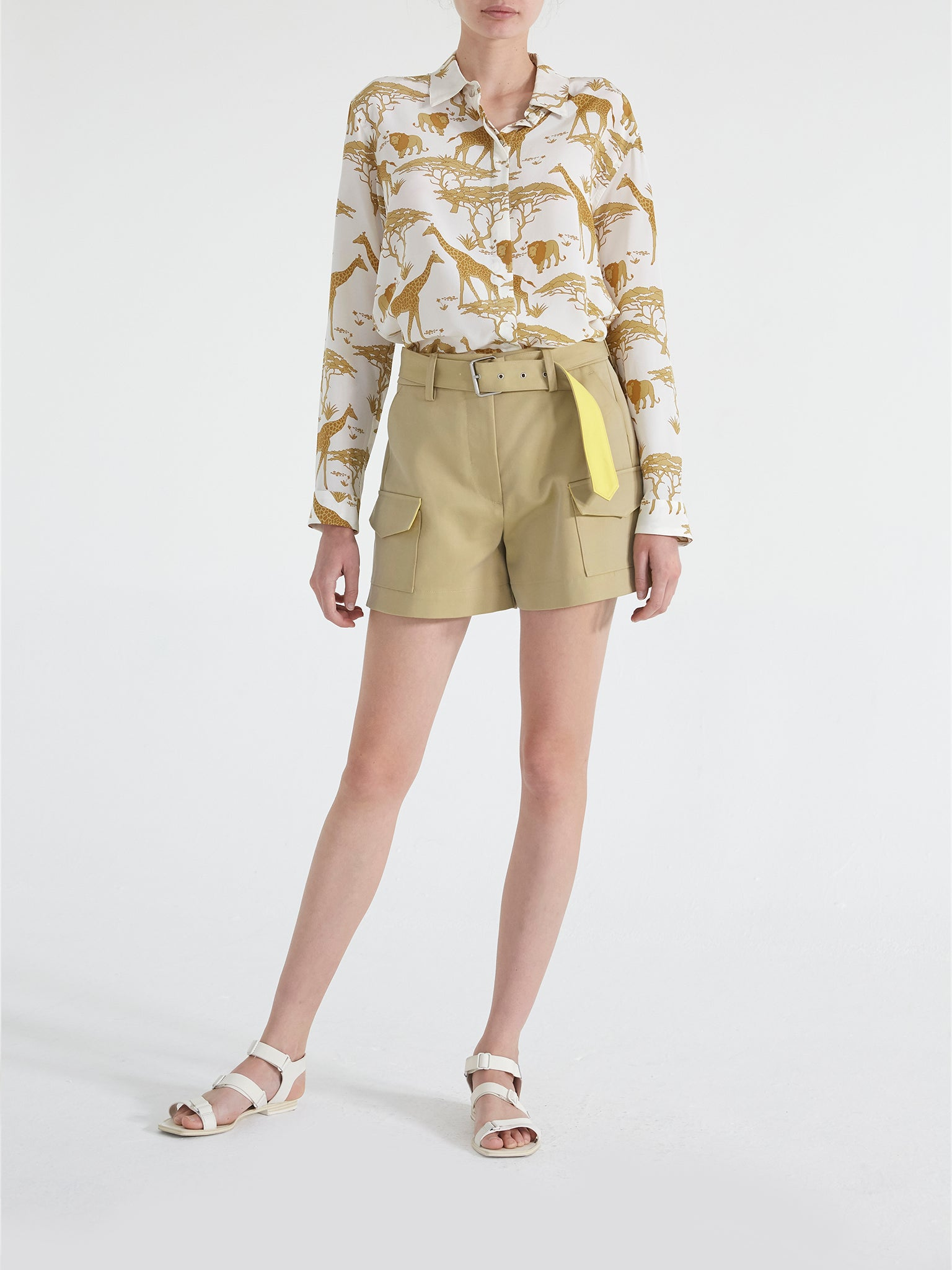 Leigh Silk Safari Shirt
