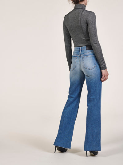 High Waist Wide Leg Jeans In Italian Soft Denim