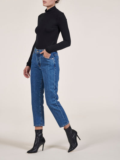 Classic Blue Cate Low Slung Straight Jeans