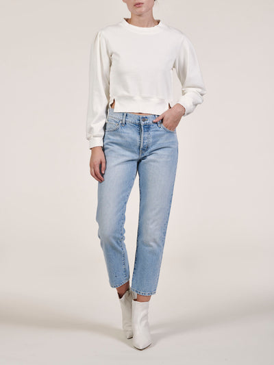 Light Vintage Wash Cate Low Slung Straight Jeans