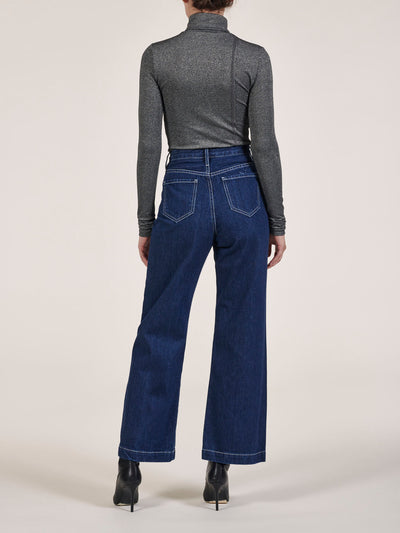Lauren Pleated Wide Leg Jeans