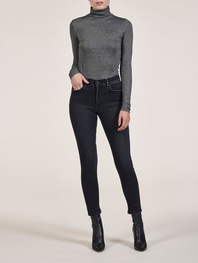 Black High Rise Skinny Jeans