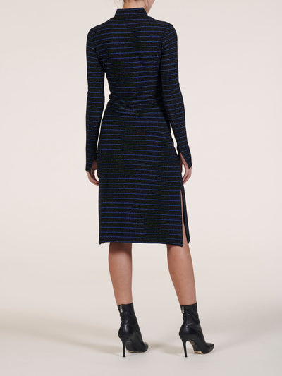 Sophia Metallic Striped Midi Dress