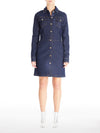 Denim Shirtdress in Stretch Italian Denim