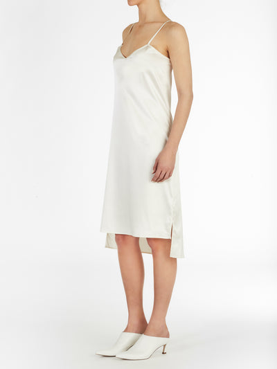 High Low Hem Satin Silk Slip Dress