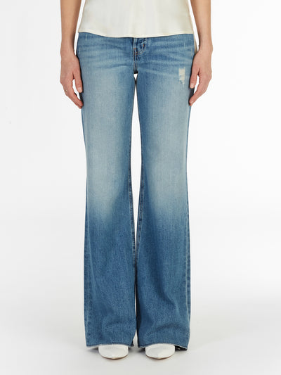 High Waist Wide Leg Jeans in Soft Italian Denim