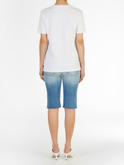 Luxe Traveler Boyfriend Tee in Italian Cotton Jersey