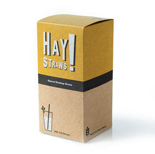 Load image into Gallery viewer, HAY! Straws are 100% compostable and biodegradable, natural drinking straws. This 500 pack of TALL straws is the best solution for entertaining a crowd or to enjoy your favorite drink at home.