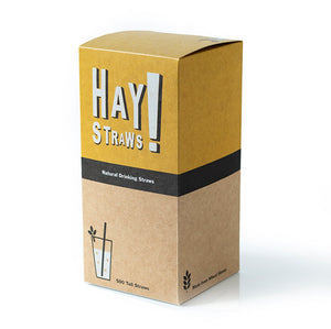 HAY! Straws are 100% compostable and biodegradable, natural drinking straws. This 500 pack of TALL straws is the best solution for entertaining a crowd or to enjoy your favorite drink at home.
