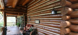 chink style log home