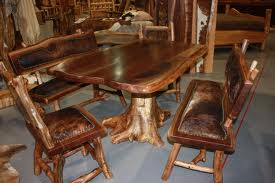 gorgeous log dining table