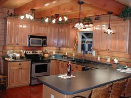stunning kitchen in a log home