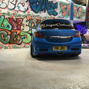 VAUXHALL ASTRA vxr rear top spoiler ducktail lip add on mk5 h