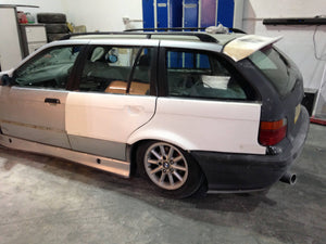bmw e36 touring 50mm rear over fenders arches wide  jdm drift