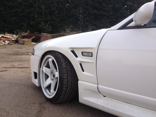 Nissan r33 skyline vented staggered front wide arch wings 30mm replacement wings grp