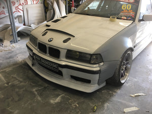 E36 bmw saloon touring compact  front 120mm arches overfenders widearches drift