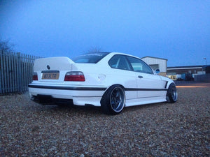 bmw e36 coupe rear over fenders wide fender panels grp wide arches drift