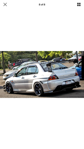 time attack wide arch bodykit Fender Mitsubishi EVO Lancer 7 8 EVOLUTION 40mm