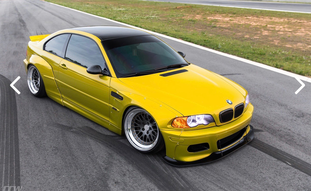 Bmw E46 Coupe Pandem Style Wide Body Kit Drift Track Show Over Fenders Unique Customs
