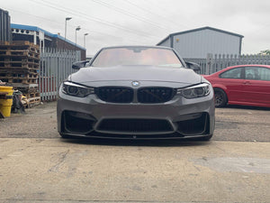 BMW M PERFORMANCE STYLE GLOSS M3 M4 F80 F82 Front Bumper Splitter Lips Covers