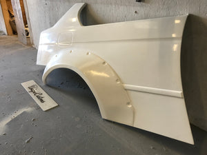 BMW E46 COMPACT REAR FULL OVER FENDERS ARCHES 80MM CSL EVO DRIFT TRACK BUNNY