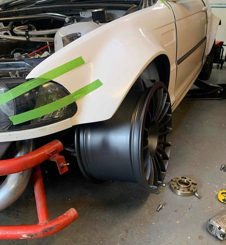 BMW E46 M3 Style 60mm Wider Front Fenders wide arches Overfenders Drift